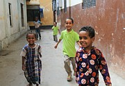 Mombasa Framed Prints - Happy Children Framed Print by Jeanette Brown