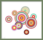 Happy Circles Print by Nomi Elboim