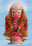Laughing Prints - Happy Clown A173323 5x7 Print by Rolf Bertram