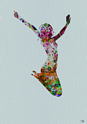 Ballerina Painting Prints - Happy dance Print by Irina  March
