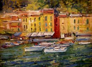 Portofino Italy Originals - Happy day in Italy by R W Goetting