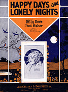 Ruth Etting Posters - Happy Days and Lonely Nights Poster by Mel Thompson