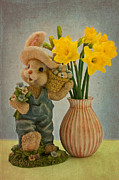 Easter Mixed Media - Happy Easter by Angela Doelling AD DESIGN Photo and PhotoArt