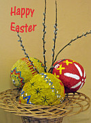 Crafts For Kids Posters - Happy Easter greeting. Papier-mache Poster by Ausra Paulauskaite
