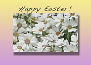 Easter Flowers Prints - Happy Easter Print by Michael Peychich