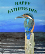 Fathers Paintings - Happy Fathers Day by Eric Kempson