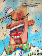 Reductionism Prints Painting Originals - Happy Frederico by Charlie Spear
