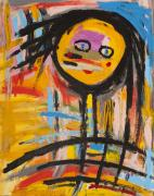 Boxes Paintings - Happy Girl Abstract  by Maggis Art