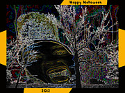 Miami Digital Art Posters - Happy Halloween 2012 Poster by Jimi Bush