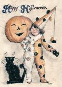 Happy Mixed Media Originals - Happy Halloween  by Carrie Jackson