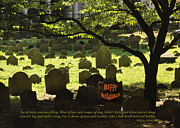 Headstones Framed Prints - Happy Halloween Framed Print by Cheryl McClure