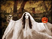 Spooky  Digital Art - Happy Halloween by Jessica Jenney