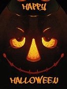 Jack-o-lantern Posters - Happy Halloween Poster by Tim Allen