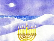 Sand Dunes Paintings - Happy Hanukkah by Joseph Gallant