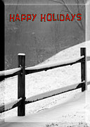 Happy Holidays Card Print by John Haldane