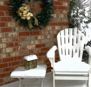 Adirondack Chair Photo Framed Prints - Happy Holidays Framed Print by Debbi Granruth
