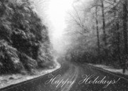 Wintry Posters - Happy Holidays Poster by Lori Deiter
