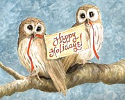 Sara Bell  - Happy Holidays Owls