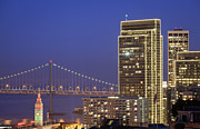 Bay Bridge Photo Metal Prints - Happy Holidays Metal Print by Sean Duan