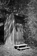 Restroom Prints - Happy Hollow Outhouse Print by Teresa Mucha