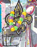 Mardi Gras Drawings - Happy Lombardi Gras by Matthew Fields
