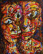 Expressionsim Paintings - Happy Marriage by Natalie Holland