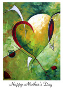 Contemporary Style Posters - Happy Mothers Day by MADART Poster by Megan Duncanson