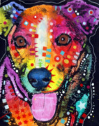 Dog Pop Art Paintings - Happy Mutt by Dean Russo