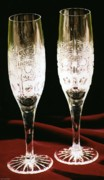 Champagne Glasses Photos - Happy New Year 2011 - Champagne by Shan Peck