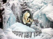 Fetus Posters - Happy New Year Poster by Otto Rapp