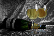 Champagne Glasses Photo Originals - Happy New Year by Tracy  Hall
