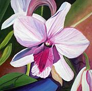 Floral Painting Prints - Happy Orchid Print by Marionette Taboniar