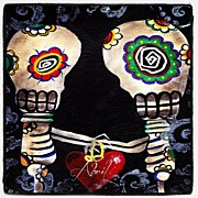 Picoftheday Posters - Happy Skeletons  Poster by  Abril Andrade Griffith