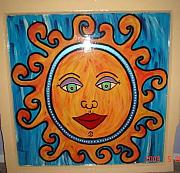 Antique Glass Art - Happy SunShine by Nikki Campbell