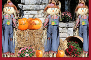 Autumn Holiday Mixed Media Posters - Happy Thanksgiving  Poster by Debra     Vatalaro