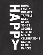 Celebrations Posters - Happy Things Poster by Linda Woods