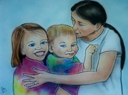 Family Drawings - Happy Together by Pete Maier