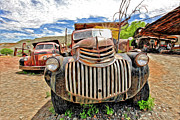 Old Trucks Photos - Happy Truck by James Steele