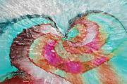 Abstract Hearts Digital Art - Happy Valentines Day by Linda Sannuti