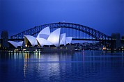 Featured Acrylic Prints - Harbor And Opera House, Sydney, New Acrylic Print by Sam Abell