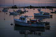 Lobstermen Posters - Harbor at Sunset Poster by Timothy Johnson