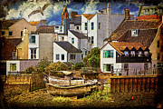 Port Town Digital Art Prints - Harbor Houses Print by Chris Lord