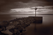 Town Photo Originals - Harbor Light Bayfield Wisconsin by Steve Gadomski