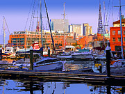 Federal Hill Posters - Harbor Morn Poster by Stephen Younts