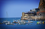Seawall Prints - Harbor - North Coast of Spain Print by Mary Machare
