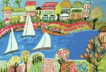 Harbor Of Gardens  Print by Karen Fields