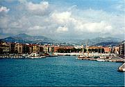 France Photo Originals - Harbor Scene in Nice France by Nancy Mueller