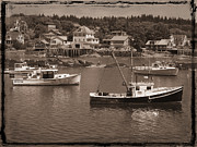 Maine Shore Framed Prints - Harbor Stonington Maine Framed Print by Jim Wright
