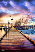 Tom Schmidt Acrylic Prints - Harbor Town Acrylic Print by Tom Schmidt