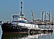 John Collins Metal Prints - Harbor Tug Metal Print by John Collins